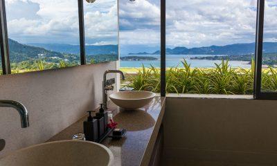 Villa Anavaya Bathroom with Sea View | Choeng Mon, Koh Samui