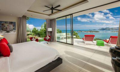 Villa Anavaya Bedroom and Balcony | Choeng Mon, Koh Samui