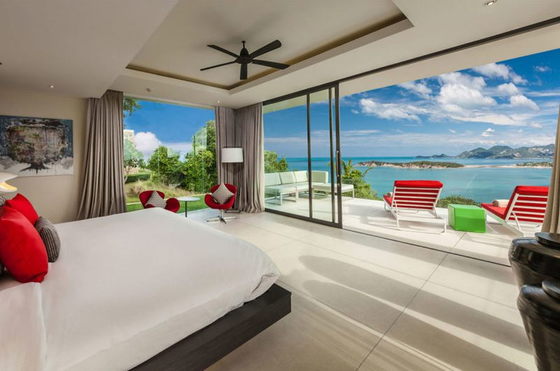 Villa Anavaya Bedroom and Balcony | Choeng Mon, Koh Samui