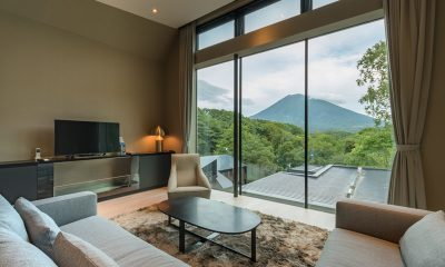 Boheme Indoor Living Area with View | Hirafu, Niseko