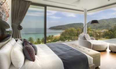 Malaiwana Residences Penthouse Bedroom with Lamps | Naithon, Phuket