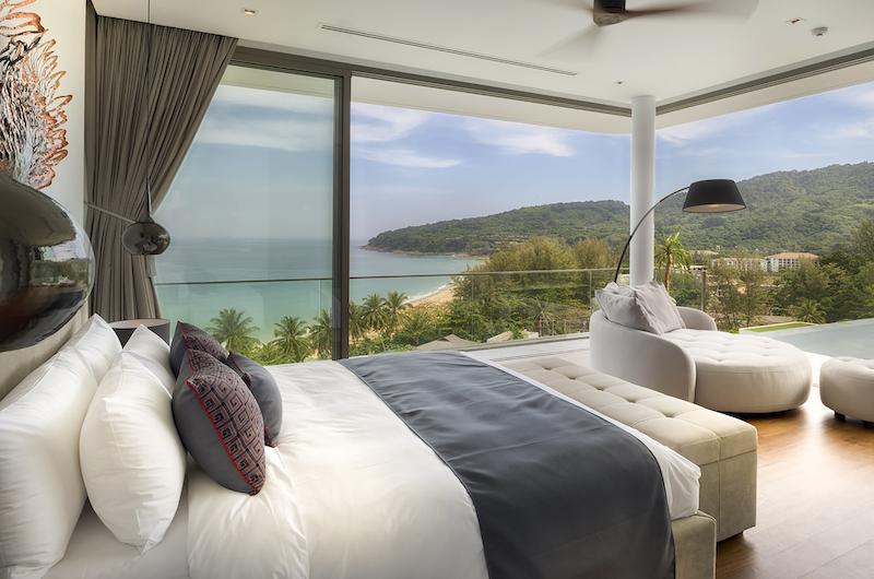 Malaiwana Residences Penthouse Bedroom with Lamps | Naithon, Phuket