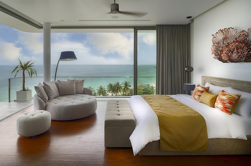 Malaiwana Residences Penthouse Master Bedroom with Seating | Naithon, Phuket