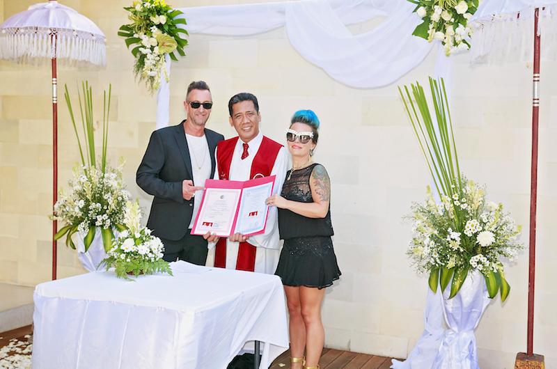 Bali Seminyak One Eleven Wedding Couple