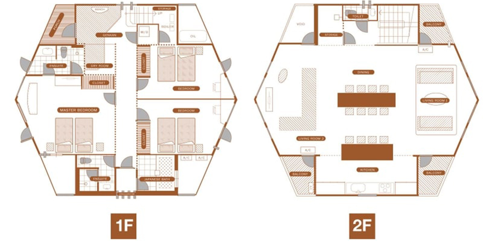 The Orchards Niseko Hinoki Floor Plan | St Moritz, Niseko