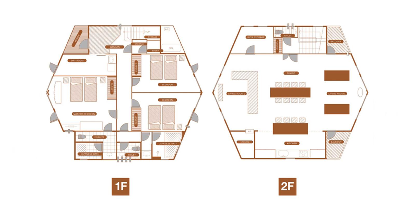 The Orchards Niseko Kaki Floor Plan | St Moritz, Niseko