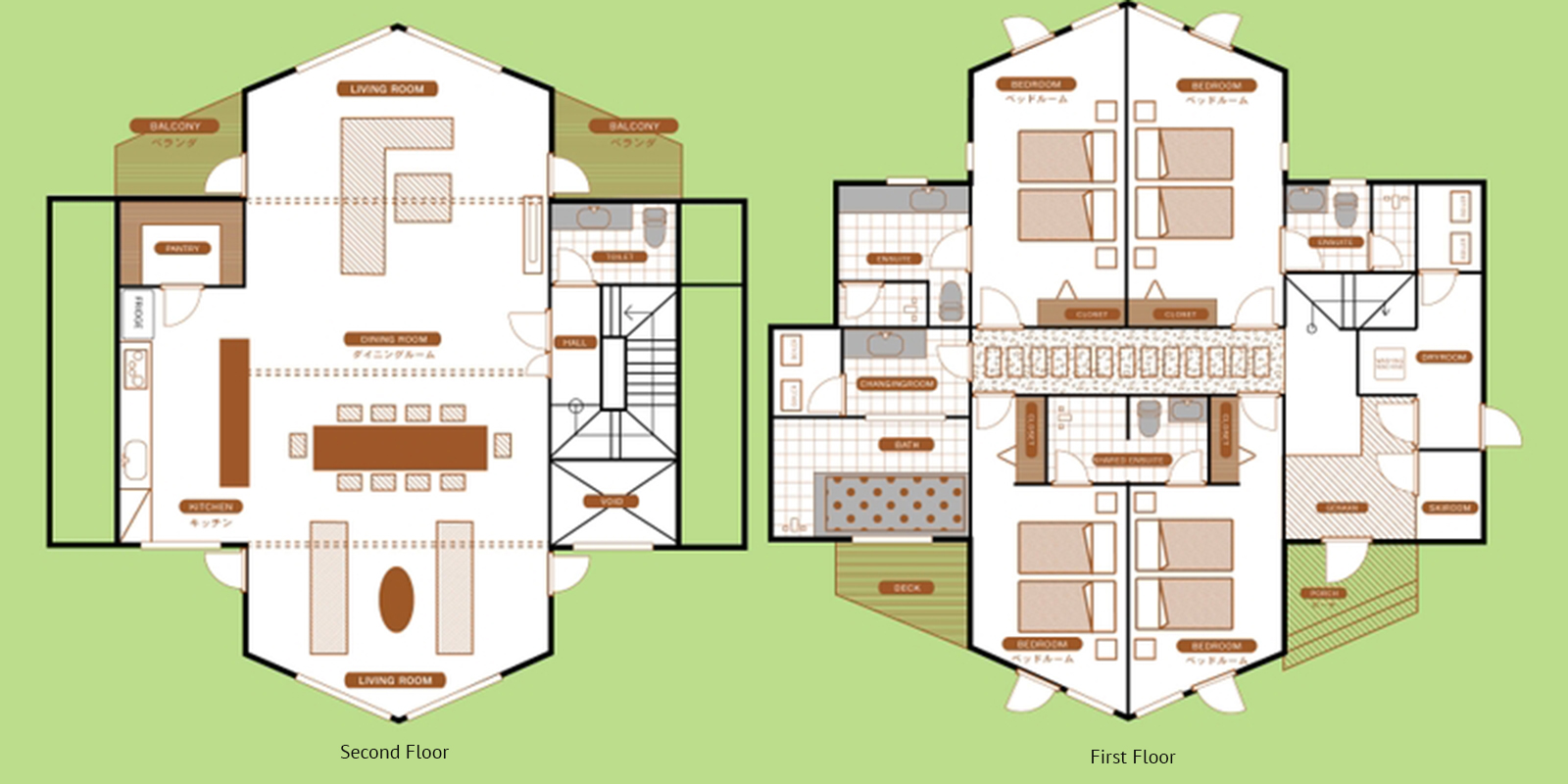 The Orchards Niseko Kitsune Floor Plan | St Moritz, Niseko