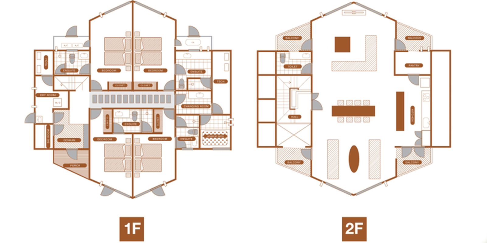 The Orchards Niseko Sawara Floor Plan | St Moritz, Niseko