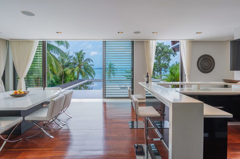 Naam Sawan Kitchen and Dining Area with Sea View | Cape Yamu, Phuket