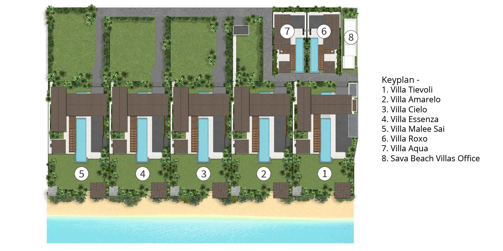 Sava Beach Villas Floorplan   Natai, Phang Nga