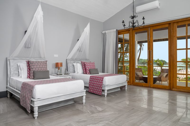 The Boat House Bedroom with Twin Beds | Dickwella, Sri Lanka