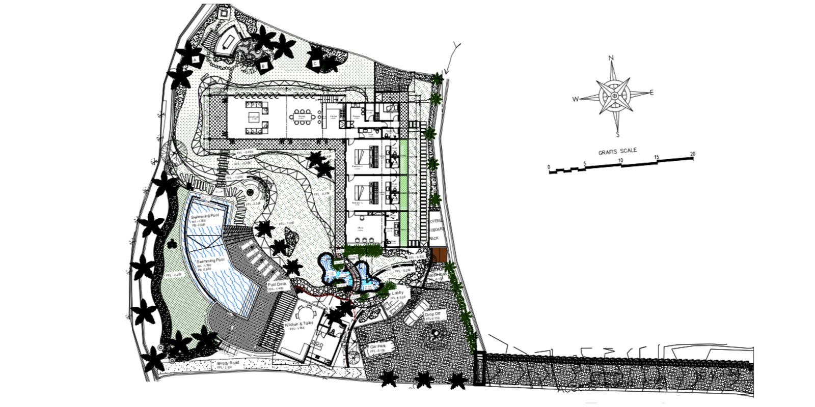 Villa Breeze Floor Plan | Canggu, Bali