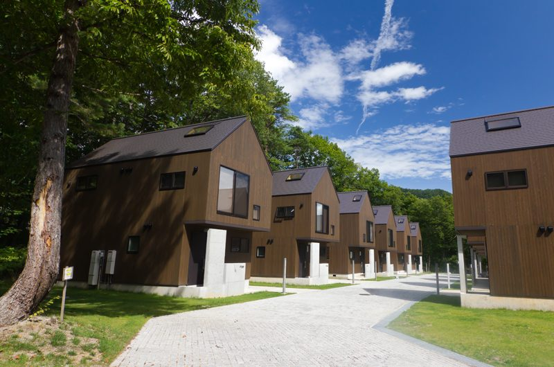 Gakuto Villas Outdoor Area with View   Hakuba, Nagano