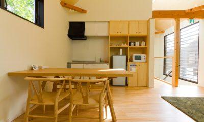 Gakuto Villas Kitchen and Dining Area   Hakuba, Nagano