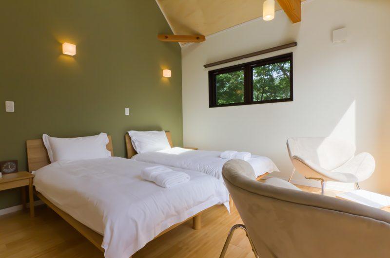 Gakuto Villas Twin Bedroom | Hakuba, Nagano