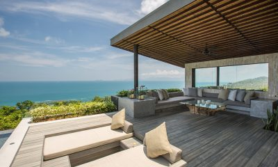 Raku Samui Open Plan Lounge Area with Sea View | Maenam, Koh Samui