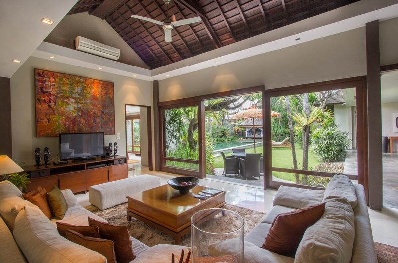Chimera Orange Indoor Living Area with Pool View | Seminyak, Bali
