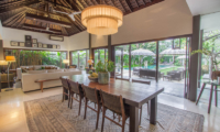Chimera Tiga Indoor Living and Dining Area with Pool View   Seminyak, Bali
