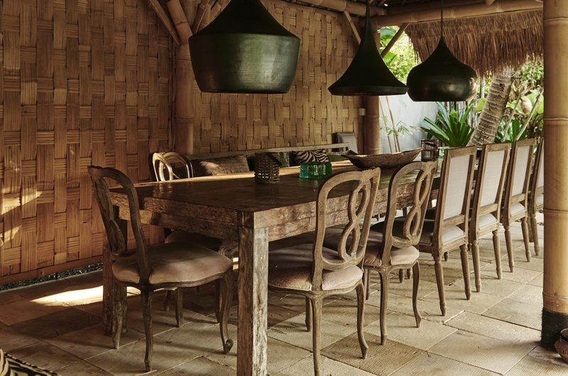 Africa House Dining Area with Garden View | Bali, Seminyak