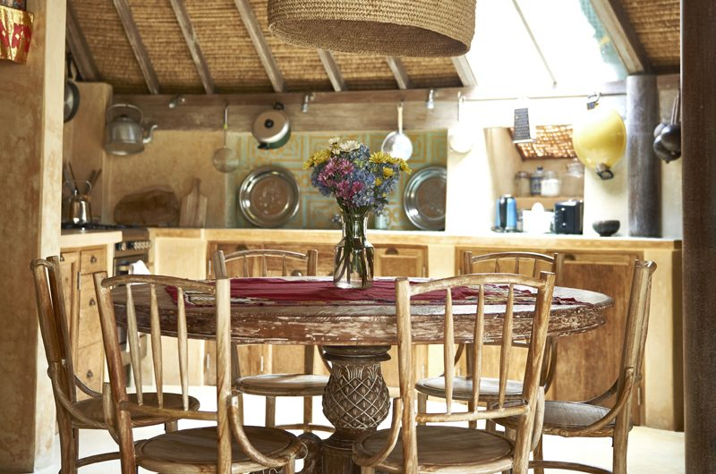 Round House Kitchen and Dining Area | Bali, Seminyak