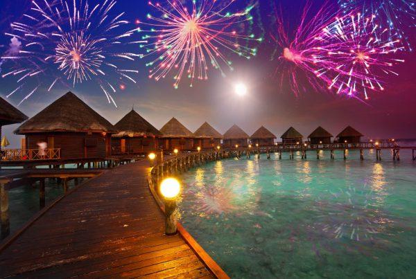 Maldives New Year Fireworks