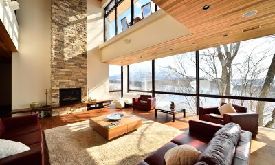 Panorama Living Area with TV | Lower Hirafu Village, Niseko