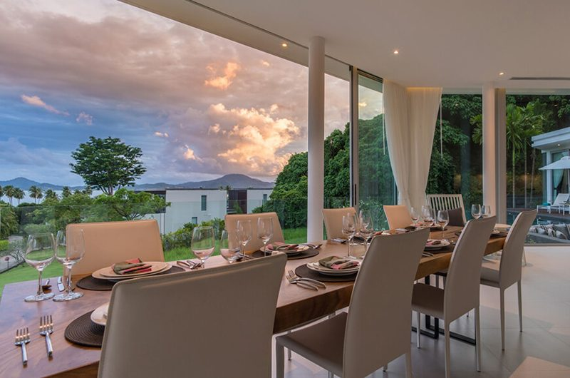 Villa Abiente Dining Area Night View | Cape Yamu, Phuket