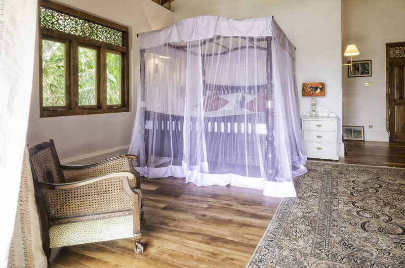 Meda Gedara Bedroom with Wooden Floor | Dickwella, Sri Lanka