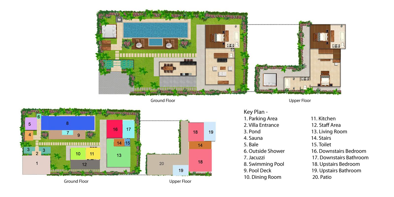 Villa Kalimaya Three Floorplan | Seminyak, Bali