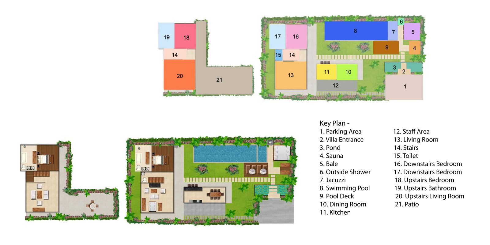 Villa Kalimaya Two Floorplan | Seminyak, Bali