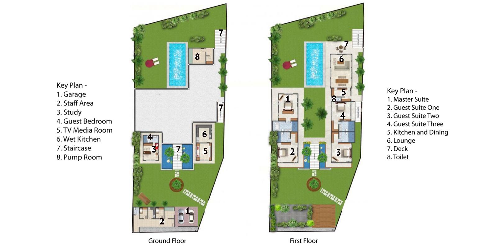 Villa Sol Y Mar Floor Plan | Uluwatu, Bali