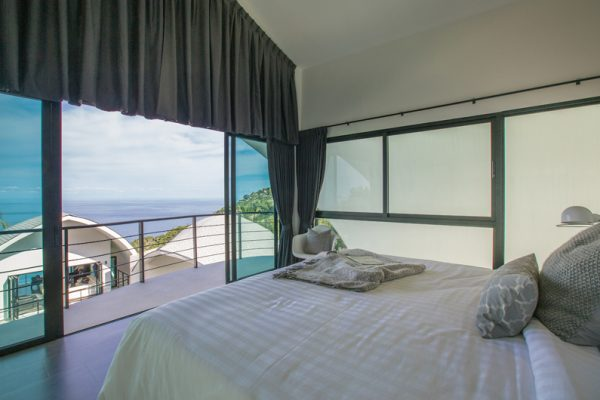 Villa Shadow Bedroom with Ocean View | Chaweng, Koh Samui