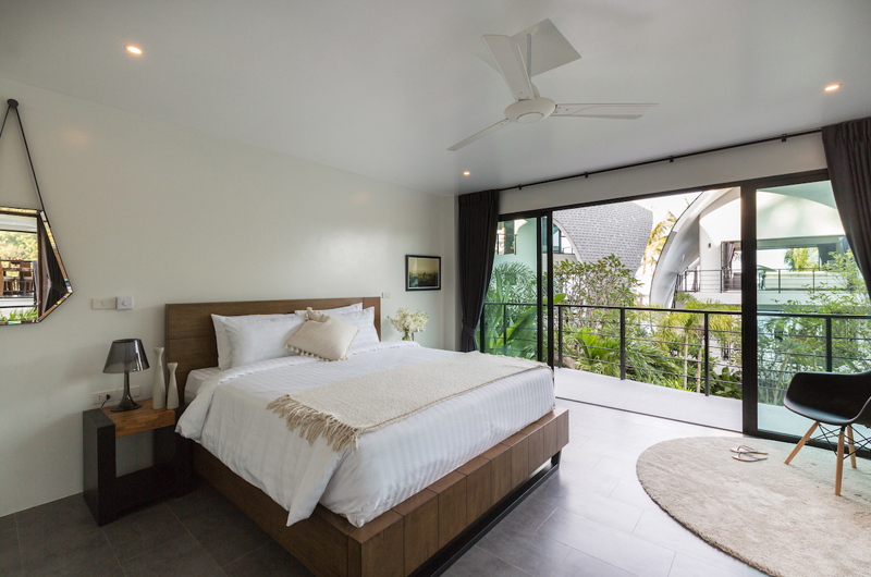 Villa Shadow Bedroom and Balcony with Garden View | Chaweng, Koh Samui