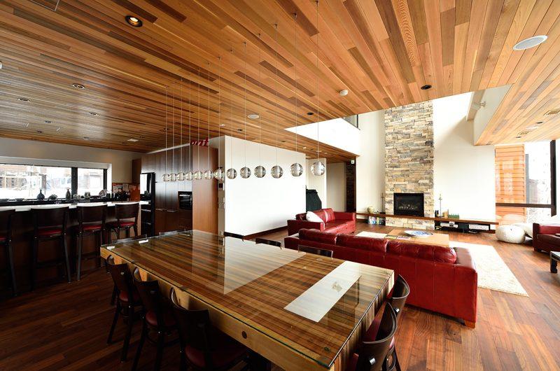 Panorama Indoor Living and Dining Area | Lower Hirafu Village, Niseko