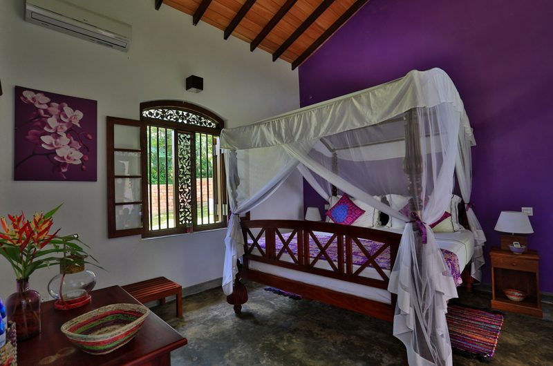 Villa Sepalika Bedroom with Table Lamp | Talpe, Sri Lanka