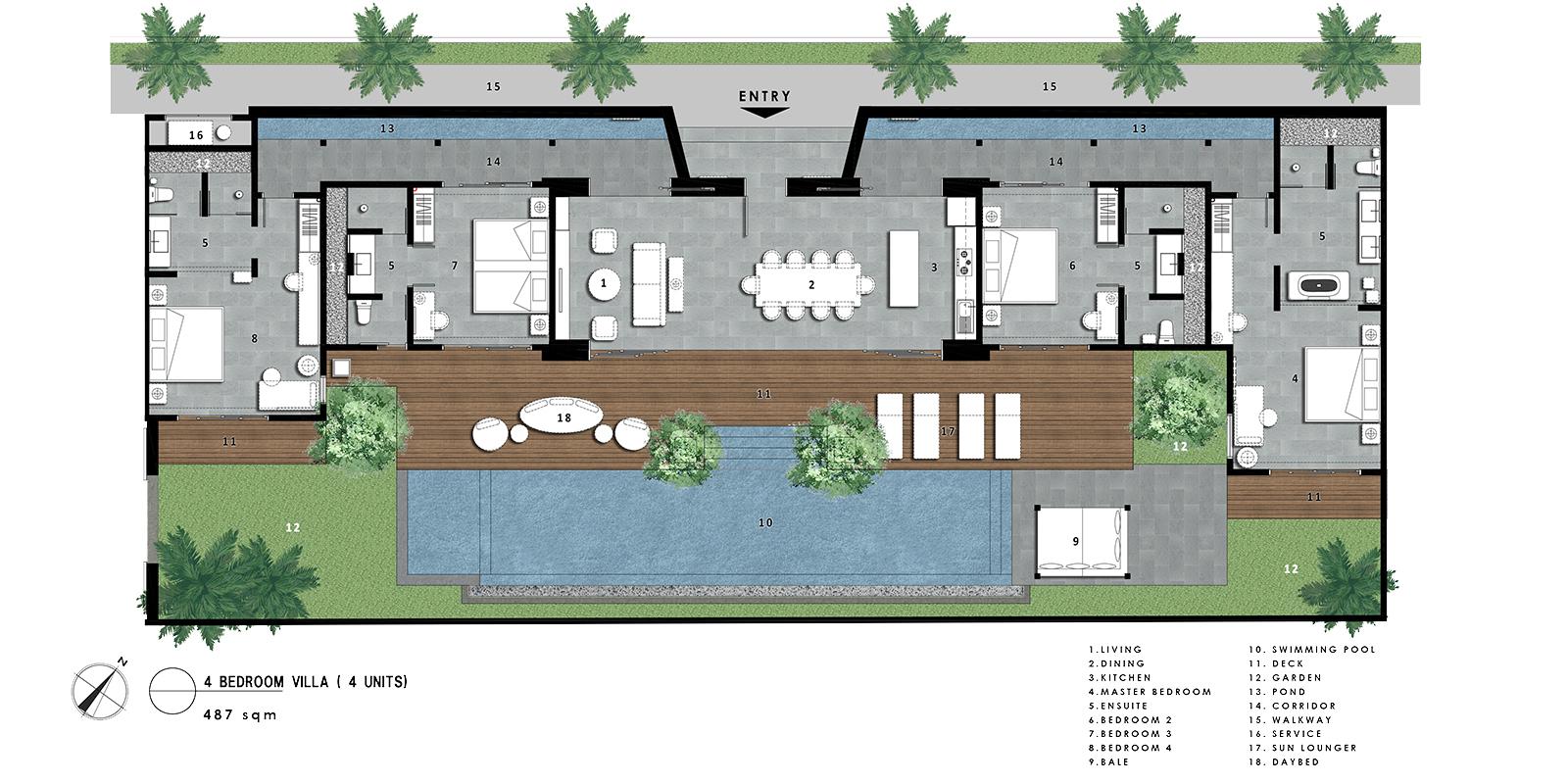 Amarin Seminyak Floor Plan | Seminyak, Bali