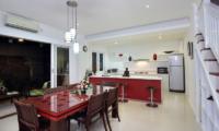 Villa Alun Kitchen and Dining Area | Batubelig, Bali