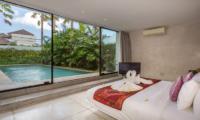 Villa Mikayla Bedroom with Pool View | Canggu, Bali