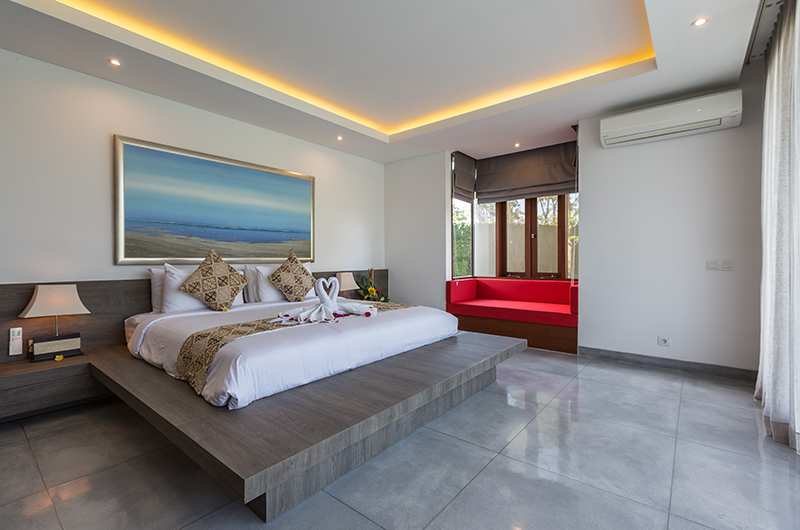Villa Roemah Natamar Bedroom with Window Seat   Canggu, Bali