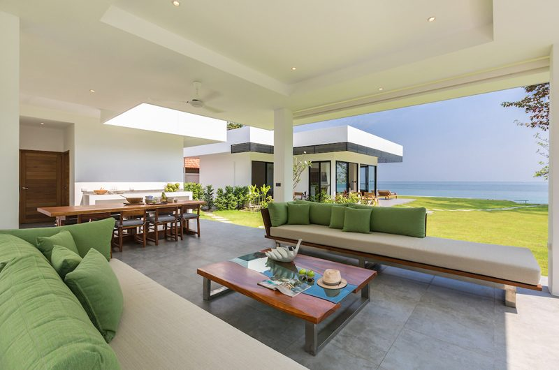 Villa Thansamaay Indoor Living and Dining Area | Laem Sor, Koh Samui