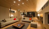Kazahana Living and Dining Area | Hirafu, Niseko