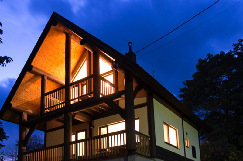 Koho Building Night View | Hirafu, Niseko