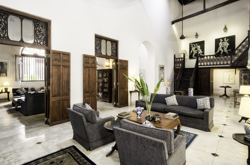 48 Lighthouse Street Living Area with Up Stairs | Galle, Sri Lanka