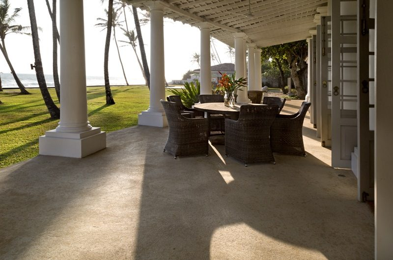 Tanamera Estate Outdoor Seating Area   Talpe, Sri Lanka