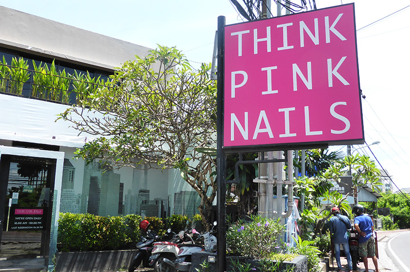 Bali Batubelig Think Pink Nails Salon