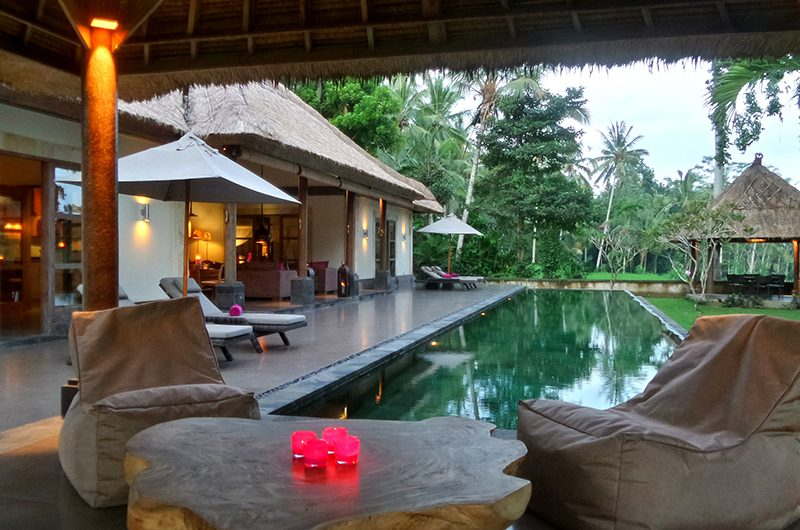 Villa Bamboo Lounge with Pool View | Ubud, Bali
