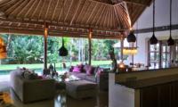 Villa Bamboo Living and Kitchen Area | Ubud, Bali