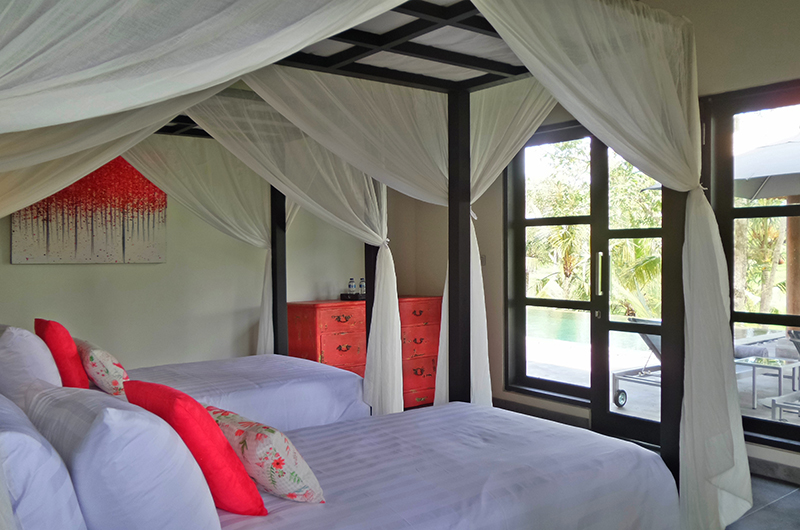 Villa Condense Twin Bedroom with Pool View | Ubud, Bali