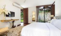 Villa Summer Bedroom with TV   Petitenget, Bali