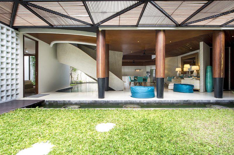 Villa Summer Living Area with Garden View   Petitenget, Bali